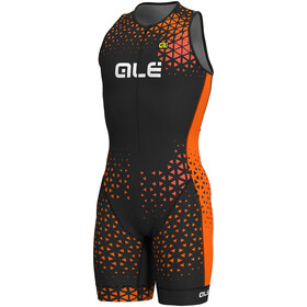 Alé Cycling Rush Tri Sleeveless Unitard Long Men black-flou orange
